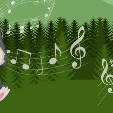 Kirjaston musiikkisatuhetkien kuva Susihukka Rukkasesta