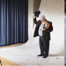 Kolme valokuvaa näyttelystä Taide tulee luo
