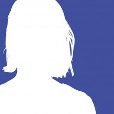 Valkoinen naisen siluetti sinistä vasten, mukailee Tuntemattoman sotilaan kantta.